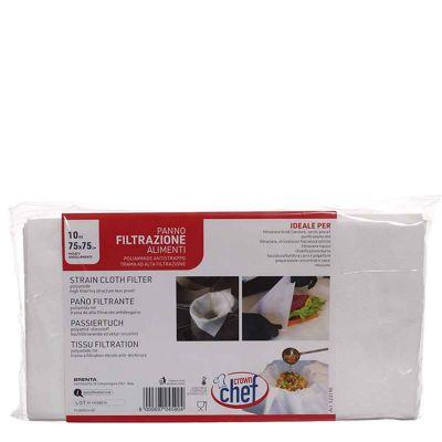 10 Panni tessuto filtrante per alimenti e liquidi 75 x 75 cm poliammide