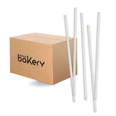 Cannucce biodegradabili in carta colore nero Bakery
