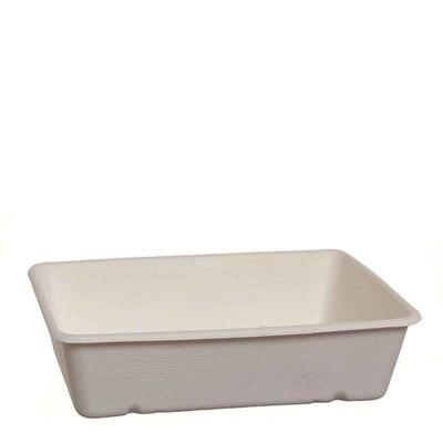 Vaschette in polpa di cellulosa compostabili 23 x 15,6 x h 4,5 cm