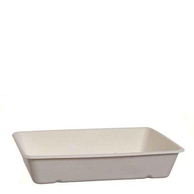 Vaschette in polpa di cellulosa compostabili 23 x 15,6 x h 3 cm