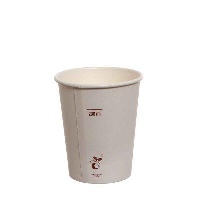 Bicchieri compostabili in cartoncino bianco 240 ml