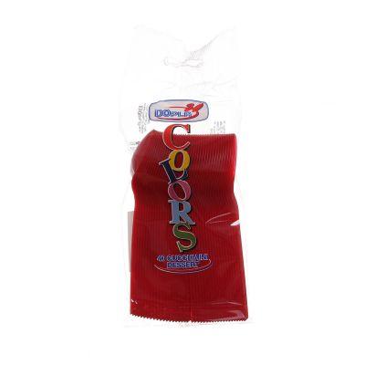 Cucchiaini dessert in plastica colorati DOpla Colors rosso