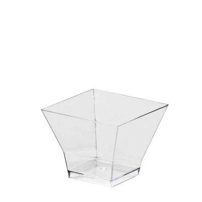 Bicchierini monoporzione quadrati Pagoda 65cc trasparenti