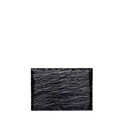 Vassoi ardesia nera sintetica Rock 13x9 cm piccoli