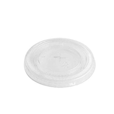 Coperchi piatti trasparenti con foro Ø8,5 h0,8cm