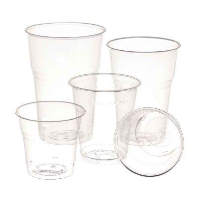 Bicchieri compostabili Ilip BIO in PLA trasparente