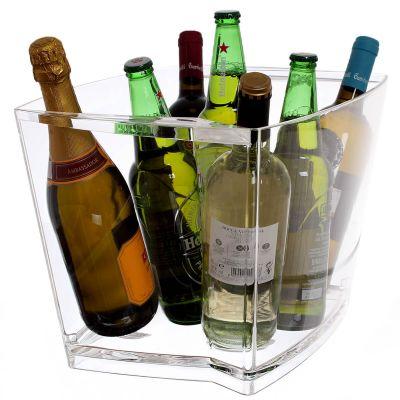 Secchiello ghiaccio porta bottiglie champagne rettangolare grande