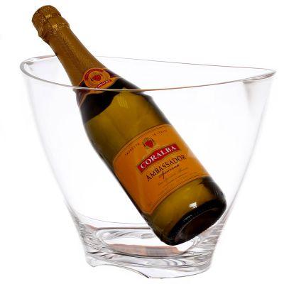 Secchiello per ghiaccio porta bottiglie champagne vino ovale con spumante