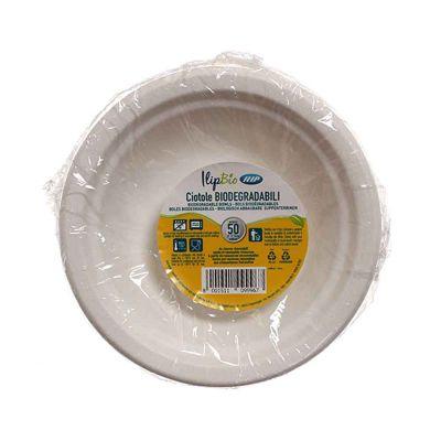 Piatti fondi ciotole in polpa di cellulosa Ilip BIO Ø17,5 cm