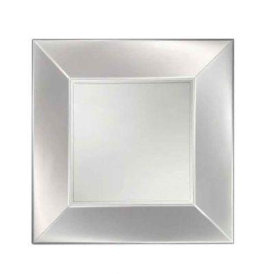 Piatti quadrati lavabili per microonde bianco perla 23x23 cm