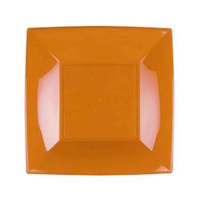 Piatti quadrati lavabili per microonde giallo mango 23x23 cm
