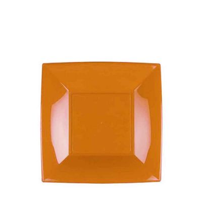 Piatti quadrati piccoli lavabili per microonde mango 18x18 cm