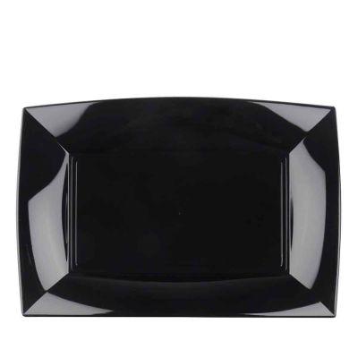 Vassoi rettangolari lavabili da esposizione neri 34x23 cm