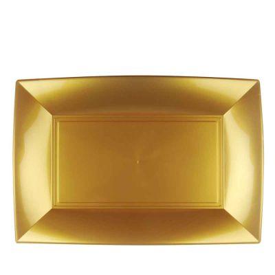 Vassoi rettangolari lavabili da esposizione oro 34x23 cm