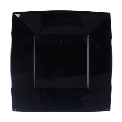 Piatti quadrati grandi lavabili per microonde neri 29x29 cm