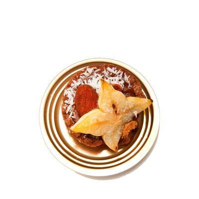 Vassoi finger food per monoporzioni dolci Mignon oro rotondo con pasticcino