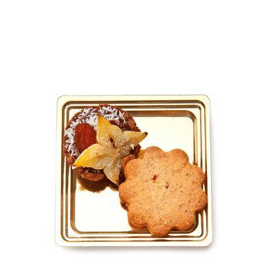 Vassoi finger food monoporzione dolci Mignon quadrato con pasticcino