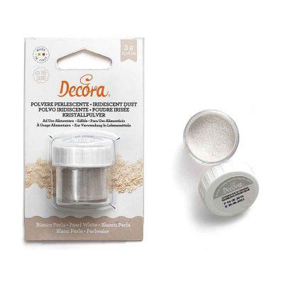 Colorante in polvere perlescente per alimenti bianco 3 g Decora