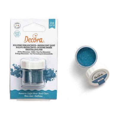 Colorante in polvere perlescente per alimenti azzurro 3 g Decora