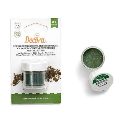Colorante in polvere perlescente per alimenti verde 3 g Decora