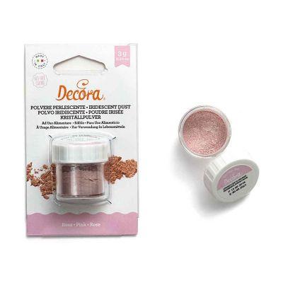 Colorante in polvere perlescente per alimenti rosa 3 g Decora