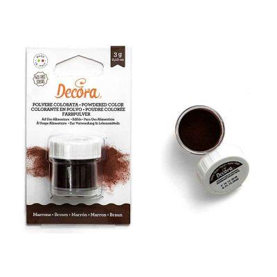 Colorante in polvere per alimenti marrone 3 g Decora