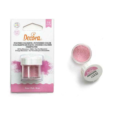 Colorante in polvere per alimenti rosa 3 g Decora