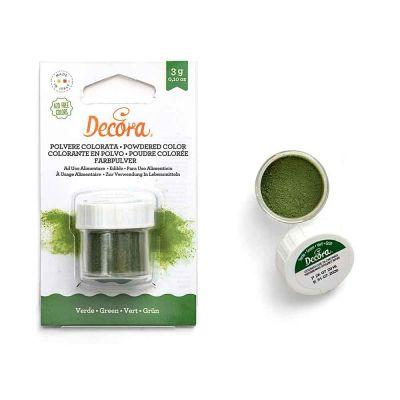 Colorante in polvere per alimenti verde 3 g Decora