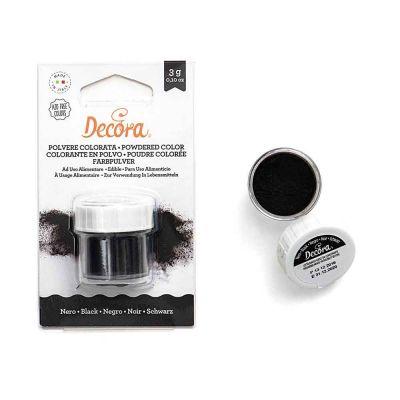 Colorante in polvere per alimenti nero 3 g Decora