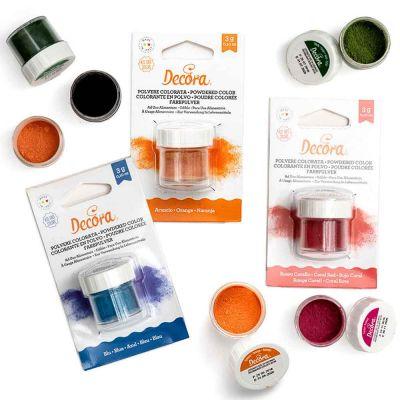 Colorante in polvere idrosolubile per alimenti colorato 3 g Decora