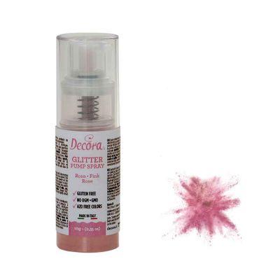Colorante pump spray glitter rosa 6 g