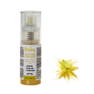 Colorante pump spray glitter giallo 6 g