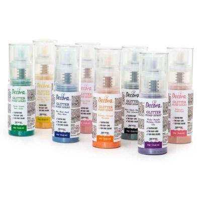 Colorante in polvere per alimenti pump spray glitter Decora