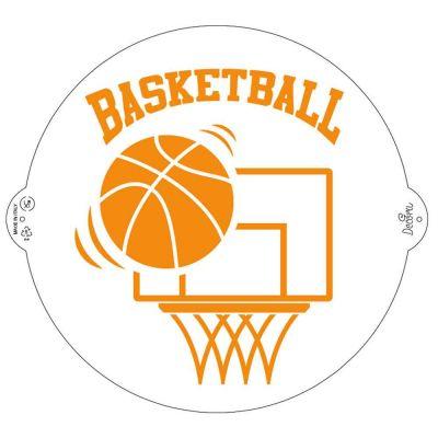 Stencil per torte Basketball Ø25 cm Decora