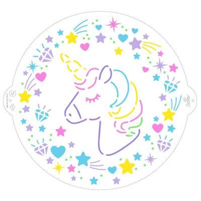 Stencil per torte Unicorno Ø25 cm Decora