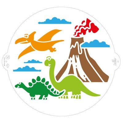 Stencil per torte Jurassic Dinosauri Ø25 cm Decora