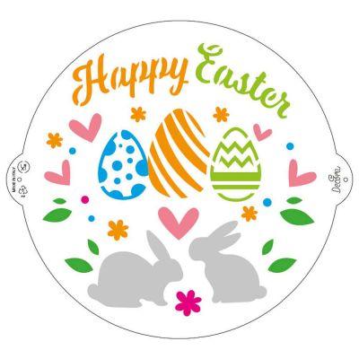 Stencil Happy Easter Decora