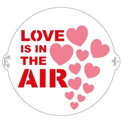 Stencil per torte Love is in the air Ø25 cm Decora
