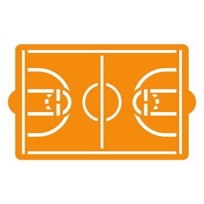 Stencil per torte Campo da Basket 30x20 cm Decora