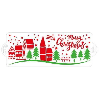Stencil Paesaggio di Natale Decora