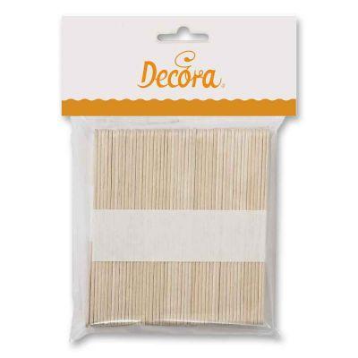 100 Stecchi bastoncini in legno di betulla 10 cm Decora