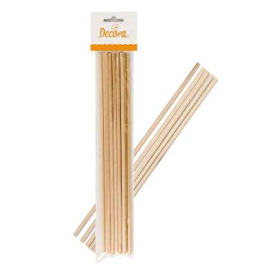 12 Bastoncini Lollipop stecchi lecca lecca in legno 30cm Ø6mm Decora