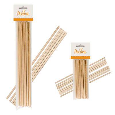 12 Bastoncini Lollipop stecchi lecca lecca pioli in legno Ø6mm Decora