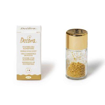 0,125 g Polvere d'oro alimentare 23 kt Decora