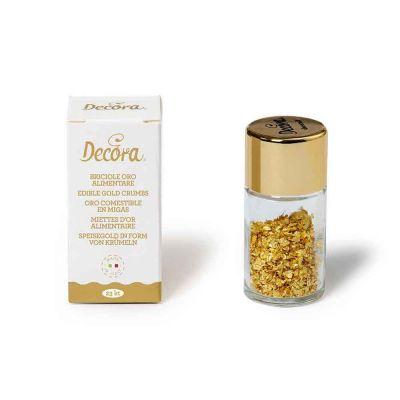 0,125 g Briciole d'oro alimentare 23 kt Decora