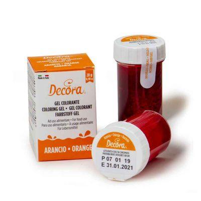 Colorante in gel per alimenti colore intenso arancione 28 g Decora
