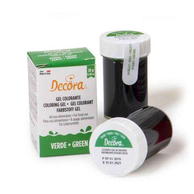 Colorante in gel per alimenti colore intenso verde 28 g Decora