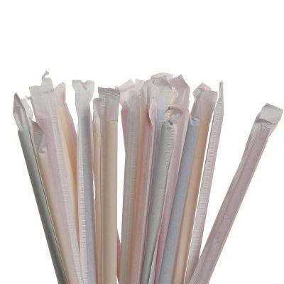 Cannucce flessibili imbustate singolarmente lunghe 24 cm