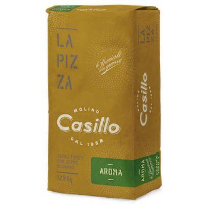 AROMA Farina di grano tenero tipo 1 per pizza W280 Casillo 12,5 kg