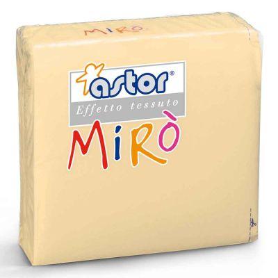 40 Tovaglioli di carta microgoffrati TNT 2 veli 38x38 avorio
